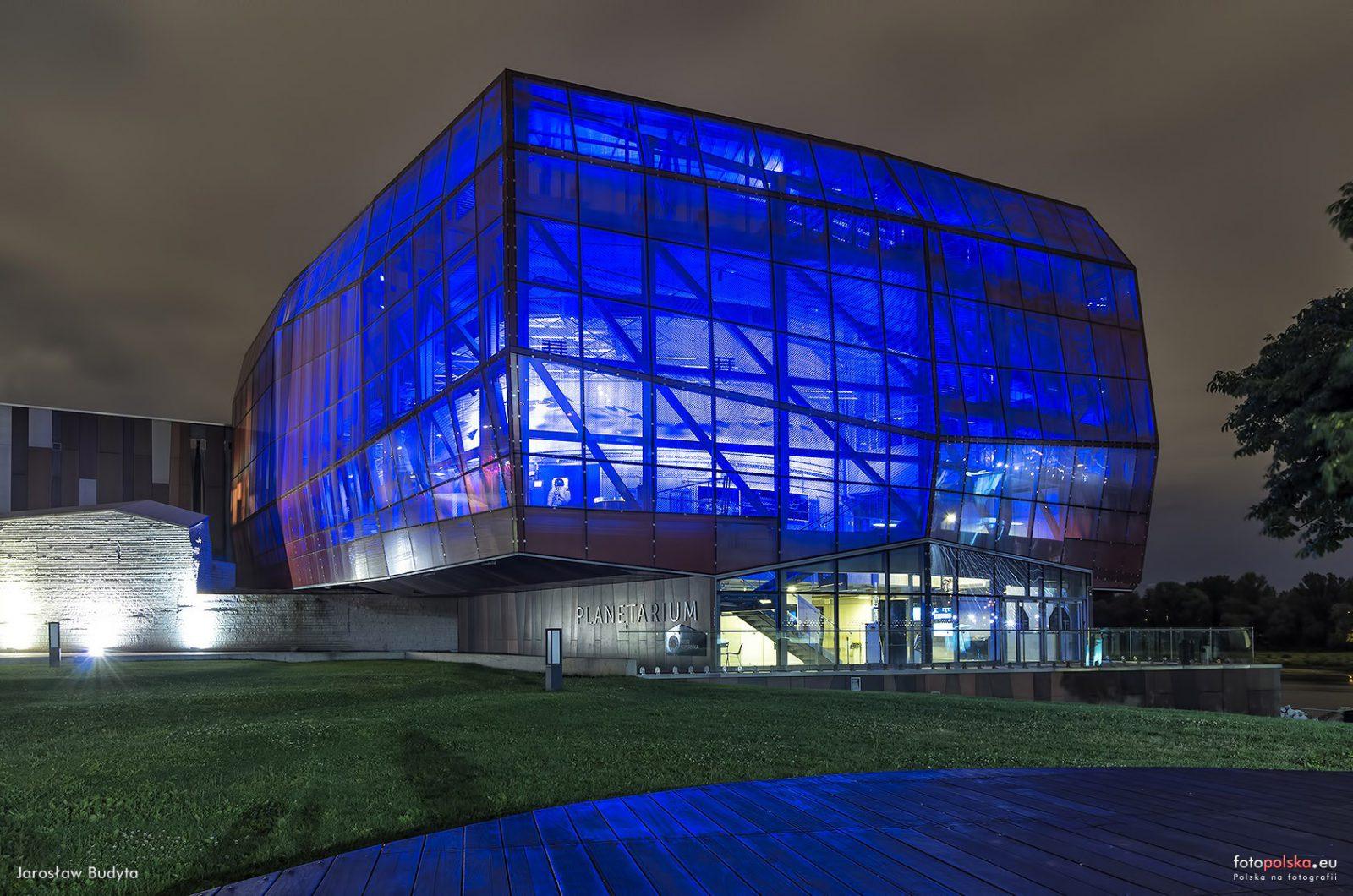Centrum Nauki Kopernik Iluminacja Planetarium - Panorama